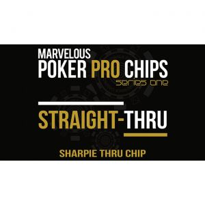 Poker Pro Straight Thru - Sharpie Thru Chip by Matthew Wright