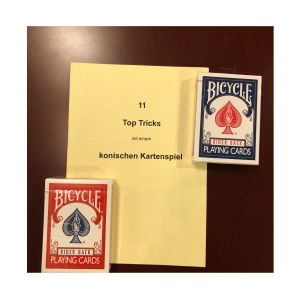 Konisches Kartenspiel mit Anleitungsheft '11 wunderbare Tricks mit dem .. '
