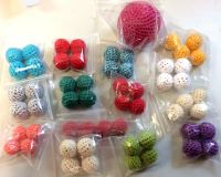 Becherspiel Bälle 4-er Satz, farbig