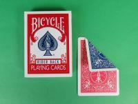 Bicycle Doppelrückenkarten rot/blau
