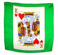 Kartentuch Herz König 60 x 60 cm