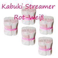 PAPER STREAMER KABUKI (Big) - ROT-WEISS - 5 STÜCK