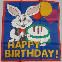 Happy Birthday-Tuch 90 cm