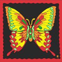 Butterfly Silk - 90 x 90 cm
