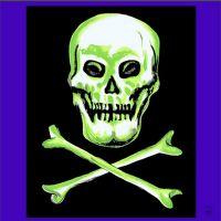 Motivtuch Skull & Cross Bones 90-er
