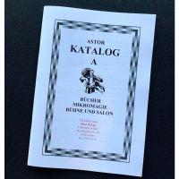 Astor Katalog A Bücher, Mikromagie, Bühne und Salon