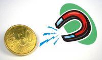 Magnetmünze 50 Cent - SUPERSTARK