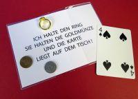 Karte - Münze - Ring