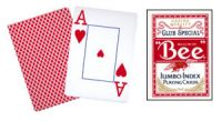 Bee Cards, Poker Size, Jumbo Index