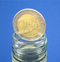 Coin in Bottle, 2-EURO Münze -Int. System -
