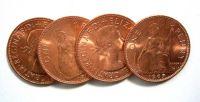 Englischer Penny - 4 Stück -