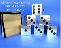 Appearing 6 Dices from Empty Paper Bag - TORA