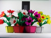 Colorful Flower Vase from Tube Tora